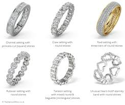 wedding ring types the meaning of eternity rings