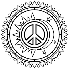 peace sign coloring pages getcoloringpages com