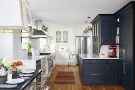 white kitchen cabinets with blue tiles 75 beautiful kitchen with blue cabinets and subway tile