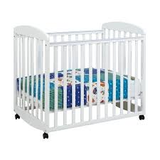 Rocking Mini Crib Alpha Mini Rocking Mobile Wood Baby Crib In White Disney Minnie