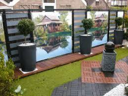 par vue de jardin décoration pour le jardin terrasse sticker brise vue coussin