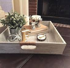 Wood Ottomans Tray For Ottoman Handcrafted Reclaimed Wood Tray L Wooden Ottoman
