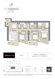 floor plans by address address dubai opera floor plan 3br t1 unit 01 level 5 13 17 37 41 51