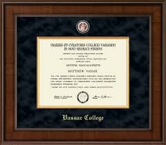 college diploma frames vassar college diploma frames church hill classics