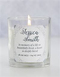 In Memory Of Gifts Personalised Order Personalised Homeware Candles Gifts Online Personalise