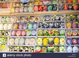 decorative easter eggs for sale painted easter eggs in prague for sale stock photo 80607104 alamy
