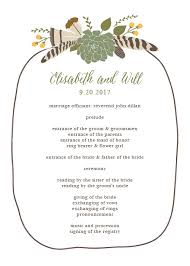 ceremony programs wedding wedding programs match your colors style free basic invite