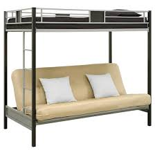 Silver Screen Twin Over Futon Metal Bunk Bed SilverBlack - Metal bunk beds with futon