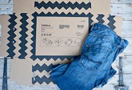 Ikea Gorm Discontinued by Ikea Pingla Hack Denim Storage Boxes Ikea Hackers Bloglovin U0027