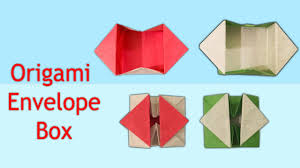 how to make an origami pop out envelope box origami envelope box