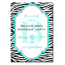 party invitations captivating 13th birthday party invitations
