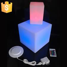 light up cubes 20cm lounge colored pe rgb led cubes grow cube chair light stool