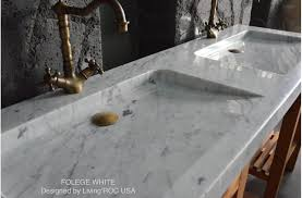 carrara marble console sink double white carrara marble trough bathroom sink folege white