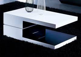 white and black coffee table white and black rectangular high gloss contemporary coffee table