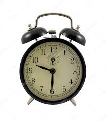 Old Fashioned Alarm Clocks Retro Alarm Clock Showing 9 Hours And 30 Minutes U2014 Stock Photo