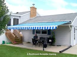 20 Ft Retractable Awning 20 Ft Motorized Xl Retractable Awning By Sunsetter Awnings Shade