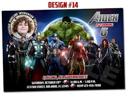 avengers birthday invitation gallery invitation design ideas