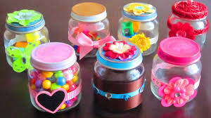diy decorated re purposed baby food jars youtube
