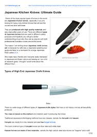 Brands Of Kitchen Knives Japanese Kitchen Knives Ultimate Guide