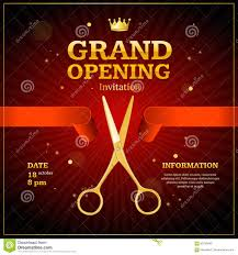 Invitation Card Of Opening Ceremony Grand Opening Invitation Card Vector Stock Vector Image 90735480