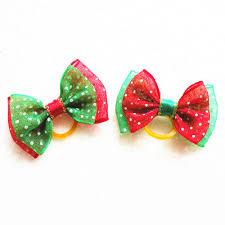 aliexpress com buy 100pc lot christmas dog bows ribbon pet hair