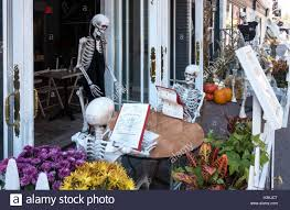 Halloween Skeletons by Halloween Skeletons Having Lunch In A Little Italy Restaurant In