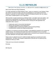 cover letter name best software testing cover letter exles livecareer