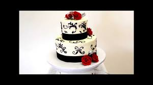 wedding cake in black and red two tier wedding cake youtube