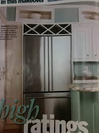 Wine Cabinet Furniture Refrigerator Wine Rack Above Fridge Kitchen Other
