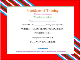 professional training certificate template from word templates