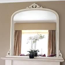 white beaded edge overmantel fireplace mirror mirrors online