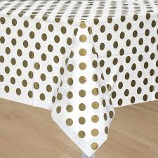 Gold Polka Dot Table Cover Table Covers Gold Party And Sweet 16