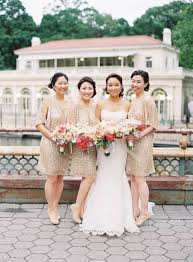 gold sequin bridesmaids dresses elizabeth anne designs the