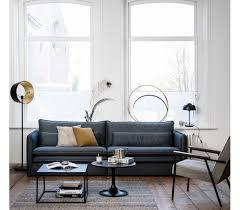 Moderne Sofa Sofa I Tekstil B265 Cm Mørkegrå