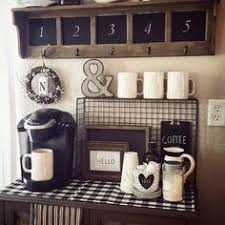 Coffee Nook Ideas Coffee Bar Chalkboard Rae Dunn Mugs Coffee Station White Keurig