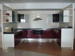 charming modular kitchen design ideas with u shape kitchen and red