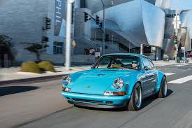 singer porsche blue singer vehicle design restored reimagined reborn
