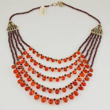 orange stone necklace images Silver necklaces archives kashmir fine arts craftskashmir fine jpg