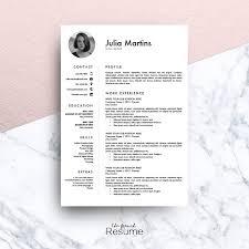 Microsoft Word Resume Sample Resume Template Ms Word Julia Resume Templates Creative