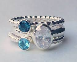 stackable engraved mothers rings best 25 birthstone stacking rings ideas on birth