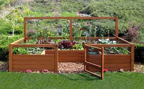 Backyard Garden Ideas Small Organic Backyard Vegetable Gardening With Wood Material