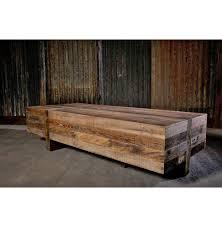 wyatt rustic lodge chunky reclaimed wood rectangle coffee table