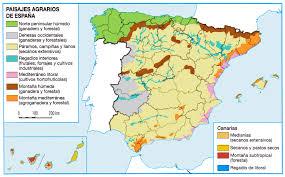 Espana Map Paisajes Agrarios Mapa Esp Fte Https Geohisdautelomce