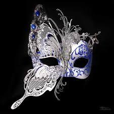 blue masquerade masks butterfly masquerade mask silver royal blue m7103