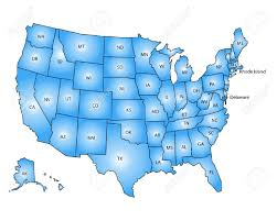 Image Of Usa Map by Usa Map Blue Royalty Free Cliparts Vectors And Stock