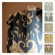 decor u0026 tips wonderfull patterned ikat curtains decor for your