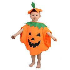 pumpkin costume fashion non woven pumpkin costume modeling kids costume