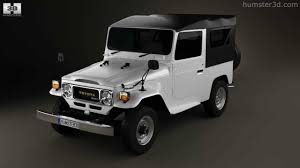 toyota jeep black toyota land cruiser j40 canvas top 1979 by 3d model store