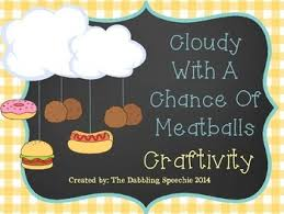 cloudy chance meatballs weather mobile craftivity freebie
