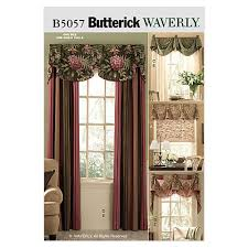butterick window treatments pattern b5057 size osz discount